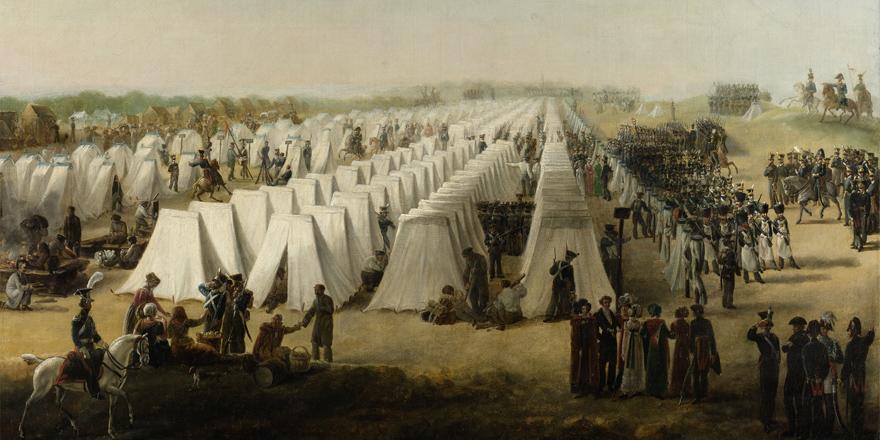 Het legerkamp bij Oirschot
